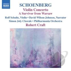 Craft / Denk / PAO / Schoenberg / Schulte - Schoenberg: Violin Concerto; A Survivor from Warsaw CD Cover Art