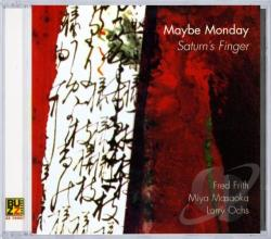 Maybe Monday - Saturn's Finger CD Cover Art