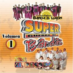 Banda El Recodo - Super Guerra De Bandas Vol. 1 CD Cover Art