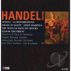 Ebs / Gardiner / Handel / Koopman - George Frideric Handel: Semele; Israel in Egypt; The Ways of Zion Do Mourn; Zadok the Priest; La Resurrezione; Dixit CD Cover Art