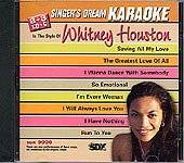 Singer's Dream Karaoke - In The Style Of Whitney Houston CD Cover Art
