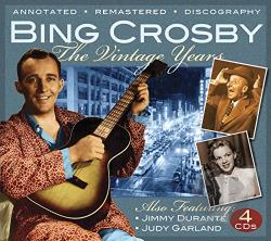 Crosby, Bing - Vintage Years CD Cover Art