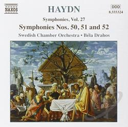 Drahos / Haydn / Swedish Chamber Orchestra - Haydn: Symphonies Nos. 50, 51 and 52 CD Cover Art