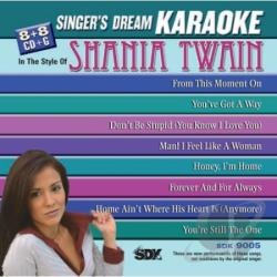 Sing Shania Twain CD Cover Art