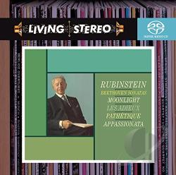 Beethoven / Rubinstein - Beethoven: Piano Sonatas CD Cover Art