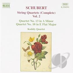 Kodaly Quartet / Schubert - Schubert: String Quartets , Vol. 2 CD Cover Art