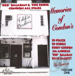 Balaban, Leonard - Memories Of Condon's:Concert Vol 1 CD Cover Art