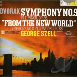 Dvorak / Szell, George - Dvorak: Symphony No. 9 'From The New World'; Symphony No. 8 in G Major CD Cover Art