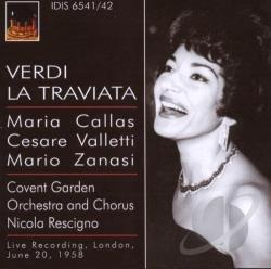 Callas, Maria - Verdi, G.: Traviata (La) [opera] (Callas) (1958) DB Cover Art