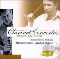 Beethoven / Collins / Mozart / Pletnev / Rno - Mozart and Beethoven: Clarinet Concertos CD Cover Art