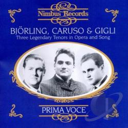 Bjorling / Caruso / Gigli - Bjorling, Caruso & Gigli: Three Legendary Tenors in Opera and Song CD Cover Art