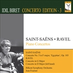 Bilkent So / Biret / Fournet / Ravel / Saint-Saens - Saint-Saens, Ravel: Piano Concertos CD Cover Art