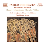 Faire Is The Heaven - Faire is the Heaven: Hymns and Anthems CD Cover Art