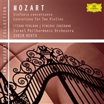 Perlman, Itzhak - Mozart: Sinfonia concertante; Concertone for Two Violins CD Cover Art
