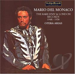 Monaco, Mario Del - Del Monaco Rare HMV & London Records 1948-1958 CD Cover Art