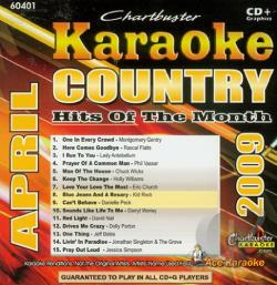 Country Hits Of The Month - April - Karaoke: Country Hits Of The Month - April 2009 CD Cover Art