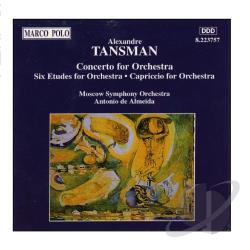 Tansman - Tansman: Concerto for Orchestra, etc / Antonio de Almeida CD Cover Art