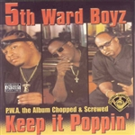 5th Ward Boyz - P.W.A. The Album: Keep It Poppin CD Cover Art
