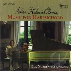 Nordenfelt / Roman - Johan Helmith Roman: Music for Harpsichord CD Cover Art