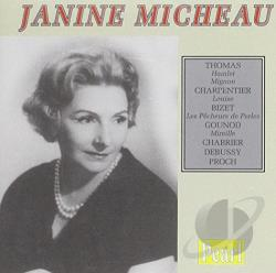 Bigot / Bizet / Charpentier / Micheau / Thomas - Janine Micheau CD Cover Art