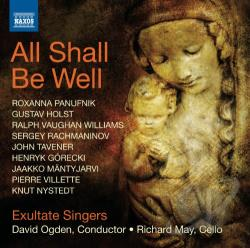Exultate Singers / Holst / May / Ogden / Panufnik - All Shall Be Well CD Cover Art