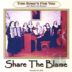 This Song's For You - Share the Blame CD Cover Art