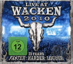 Live At Wacken 2010: 21 Years: Faster, Harder, Louder CD Cover Art