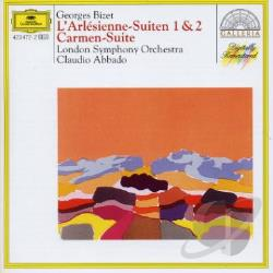 Abbado / London Symphony Orchestra - Bizet: Carmen Suite No.1 L'Arlesienne Ste 1 & 2 CD Cover Art