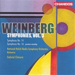 Chmura / Polish Nat'L So / Weinberg - Weinberg: Symphonies, Vol. 3 CD Cover Art