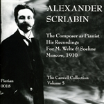 Goldenweiser / Igumnoff / Lhevinne / Scriabin - Alexander Scriabin: The Composer as Pianist CD Cover Art