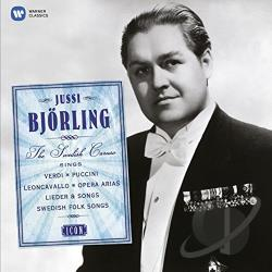 Bjorling, Jussi - Icon: Jussi Bjorling Sings Verdi, Puccini, Leoncavallo, Opera Arias, Lieder & Songs, Swedish Folk Songs CD Cover Art