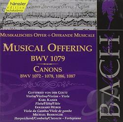 Bach / Behringer / Gamba / Goltz / Kaiser / Weber - Musical Offering BWV 1079 133, Cannons BWV 1072-78 CD Cover Art