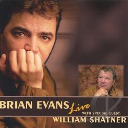Evans, Brian - Live with Special Guest William Shatner CD Cover Art