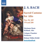 Bach / Cologne Bach Choir / Kielland / Muller-Bruh - J.S. Bach: Sacred Cantatas for Alto CD Cover Art