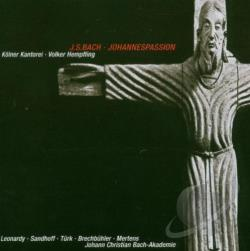 Leonardy  sop / Sandhoff  alto - Bach: Johannespassion CD Cover Art