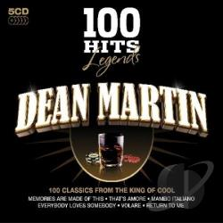 Martin, Dean - 100 Hits Legends: Dean Martin CD Cover Art