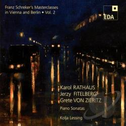 Schreker, Franz - Franz Schreker's Masterclasses Vol. 2 CD Cover Art