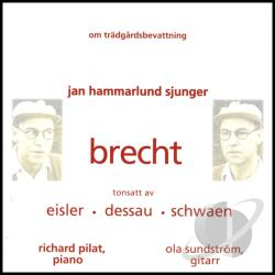 Hammarlund, Jan - Brecht Songs CD Cover Art