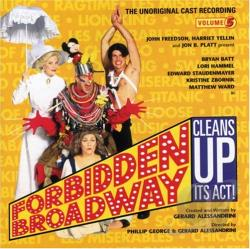 Forbidden Broadway, Vol. 5 : Forbidden Broadway Cleans Up Its Act! CD Cover Art