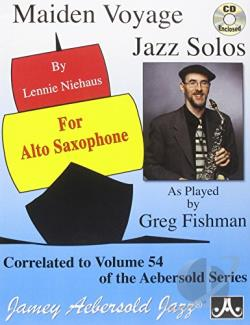 Niehaus, Lennie - Vol. 54 Maiden Voyage Alto Sax Solos CD Cover Art