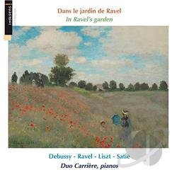 Duo Carriere:pno - Ravel's Garden CD Cover Art