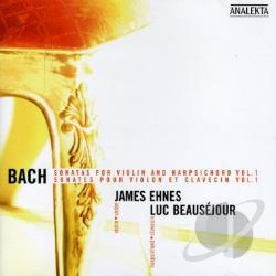 Bach / Beausejour / Ehnes - Bach: Sonatas for Violin and Harpsichord, Vol. 1 CD Cover Art