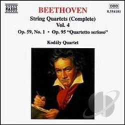 Beethoven - Beethoven: String Quartets , Vol. 4 CD Cover Art