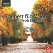 Burnside / Connolly / Dazeley / Korngold - Sonnett fur Wien: Songs of Erich Korngold CD Cover Art