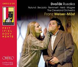 Beczala / Dvorak / Nylund / Remmert / Welser-Most - Dvorak: Rusalka CD Cover Art