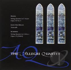 Allegri String Quartet - Haydn, MacMillan, Schubert: String Quartets CD Cover Art