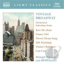 Hayman, Richard - Vintage Broadway CD Cover Art