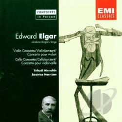Elgar - Elgar Conducts Elgar - Concertos / Menuhin, Harrison CD Cover Art
