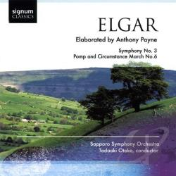 Sapporo Symphony Orc - Elgar / Payne: Symphony No. 3; Pomp and Circumstance March No. 6 CD Cover Art
