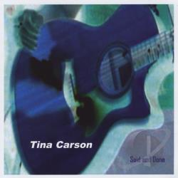 Carson, Tina - Said and Done CD Cover Art